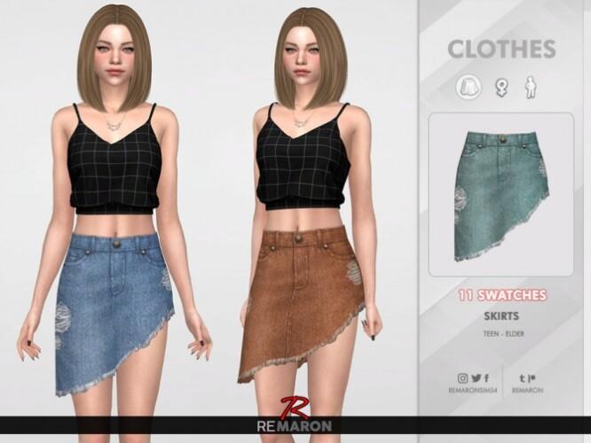 Denim Skirt for Women 02 by remaron