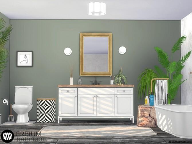 Sims 4 Erbium Bathroom by wondymoon at TSR