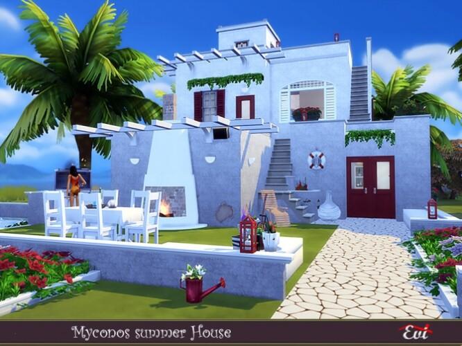 Myconos summer house by evi