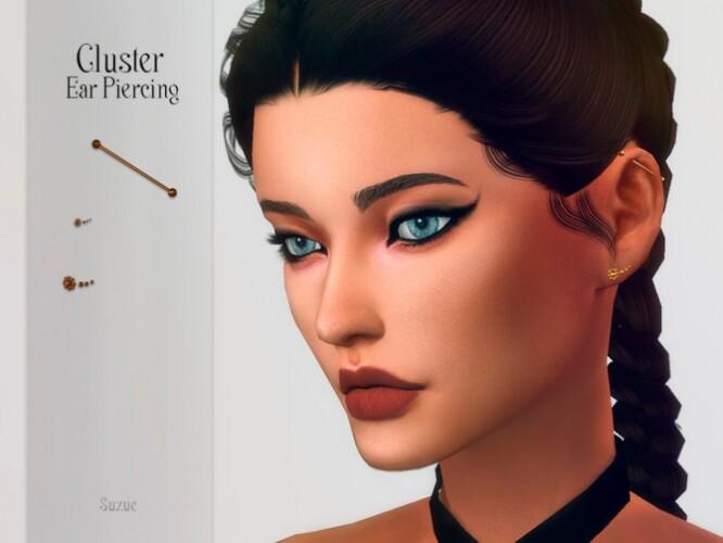 Cluster Ear Piercing by Suzue