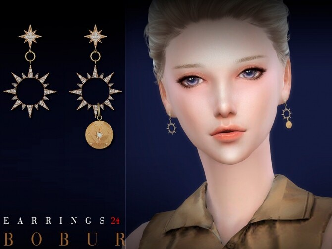Earrings 24 by Bobur3 at TSR image 5919 670x503 Sims 4 Updates