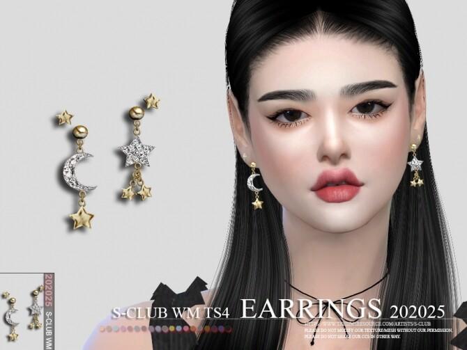 Sims 4 EARRINGS 202025 by S Club WM at TSR