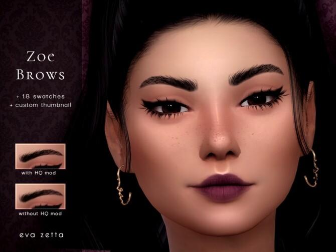 Sims 4 Zoe Eyebrows by Eva Zetta at TSR
