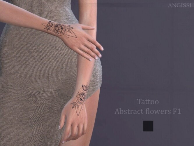Abstract flowers F1 Tattoo by ANGISSI