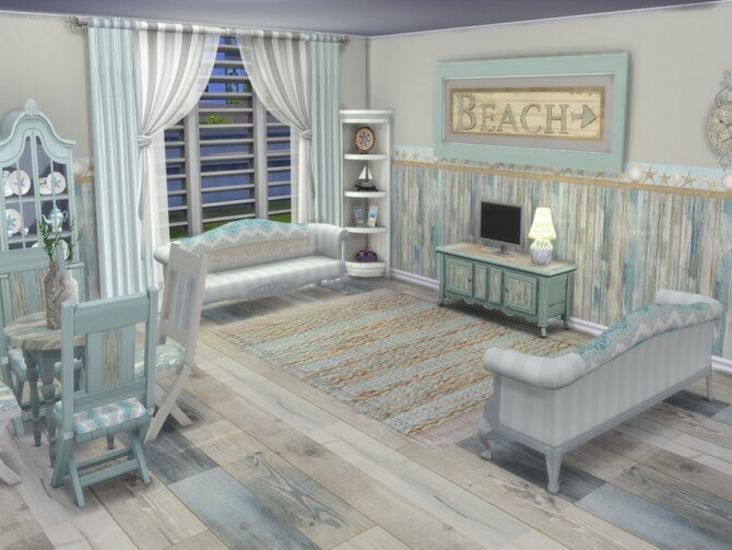 Beachy Vibes Set Recolors by seimar8 at TSR image 610 670x503 Sims 4 Updates
