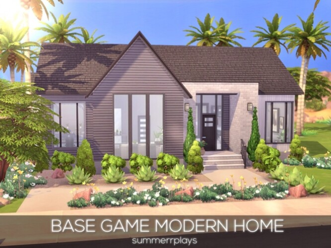 Base Game Modern Home by Summerr Plays