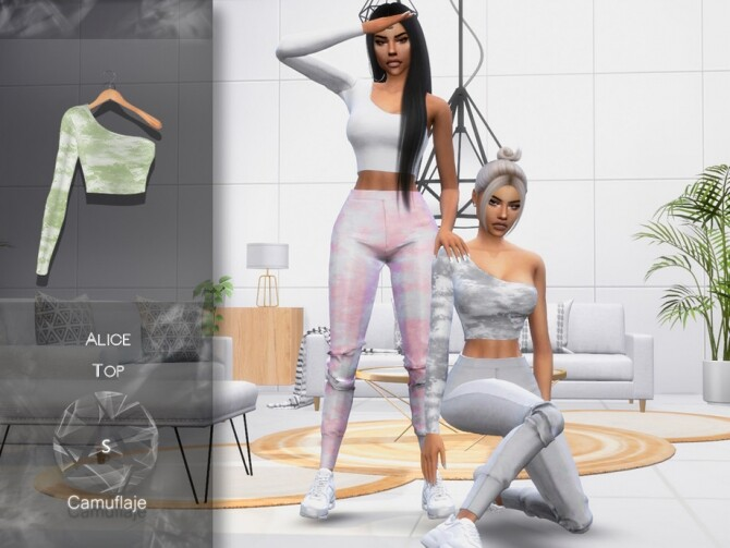 Sims 4 Alice Top by Camuflaje at TSR