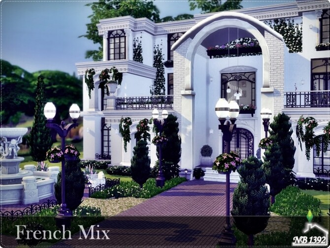 Sims 4 French Mix home by nobody1392 at TSR