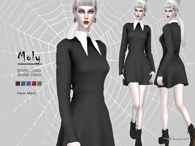 MOLY Gothic Witch Dress by Helsoseira at TSR image 6210 670x503 Sims 4 Updates