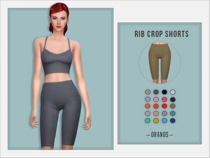 Rib Crop Shorts by OranosTR at TSR image 6211 670x503 Sims 4 Updates