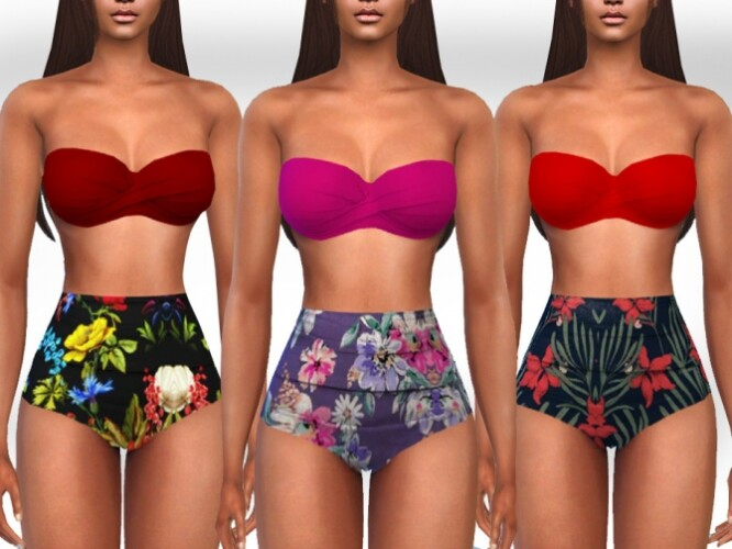 Two Piece High Waist Swimsuits by Saliwa