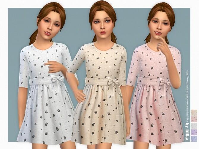 Sims 4 Viola Dress by lillka at TSR