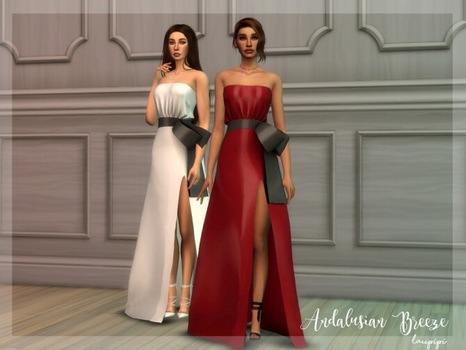 Sims 4 Andalusian Breeze DR1 dress by laupipi at TSR