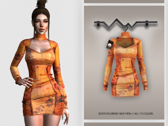 Sims 4 Bodycon Dress BD327 by busra tr at TSR