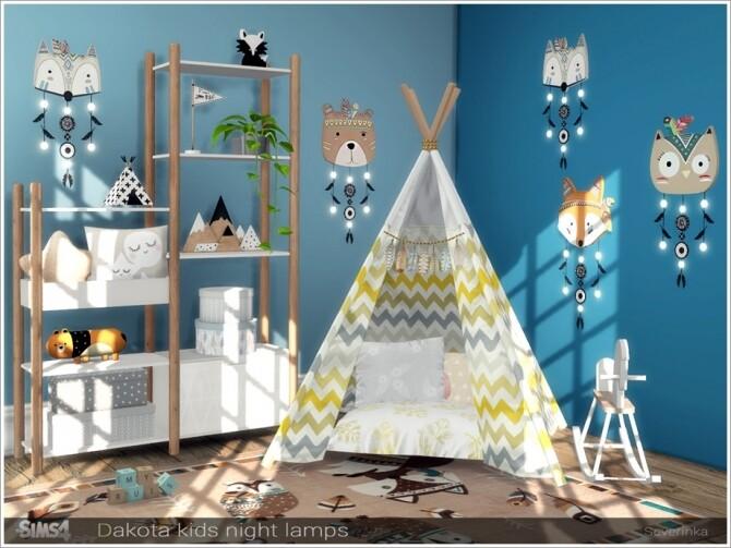 Dakota kids night lamps by Severinka at TSR image 6222 670x503 Sims 4 Updates