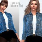 Denim jacket with white t-shirt by Sims House