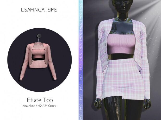 Sims 4 LMCS Etude Top by Lisaminicatsims at TSR