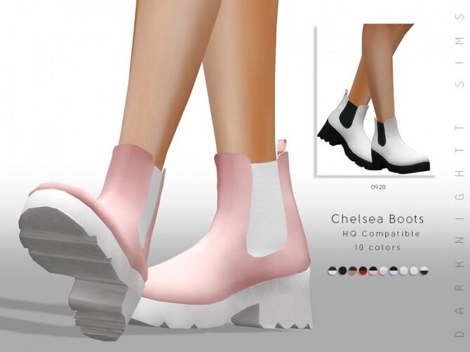 Sims 4 Chelsea Boots by DarkNighTt at TSR