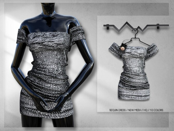 Sims 4 Sequin Dress BD315 by busra tr at TSR