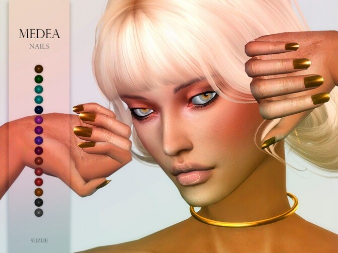 Sims 4 Medea Nails by Suzue at TSR