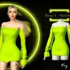Dress I NEON VI by Viy Sims