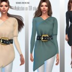 Tunic long sleeve with a wide belt by Sims House