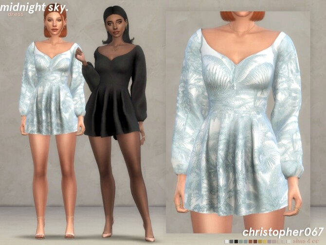 Midnight Sky Dress by christopher067 at TSR image 6611 670x503 Sims 4 Updates
