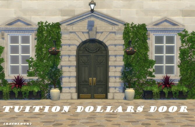 Tuition Dollars Door Recolour by Nutter Butter 1 at Mod The Sims image 669 670x437 Sims 4 Updates