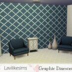 Graphic Diamonds wallpaper by lavilikesims