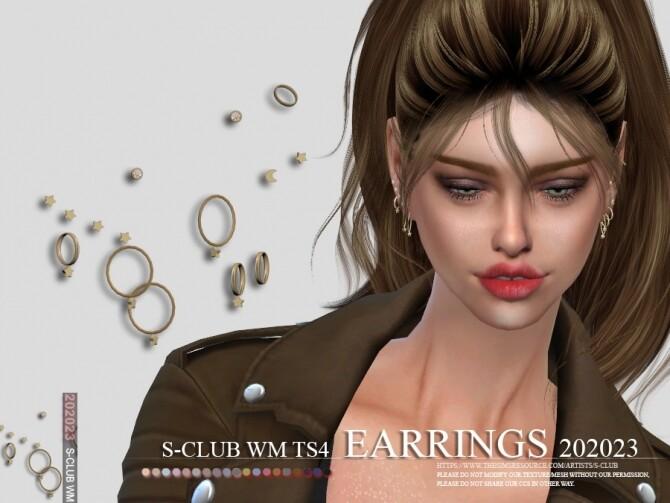 Sims 4 EARRINGS 202023 by S Club WM at TSR