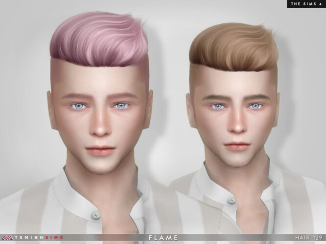 Flame Male Hair 129 by TsminhSims