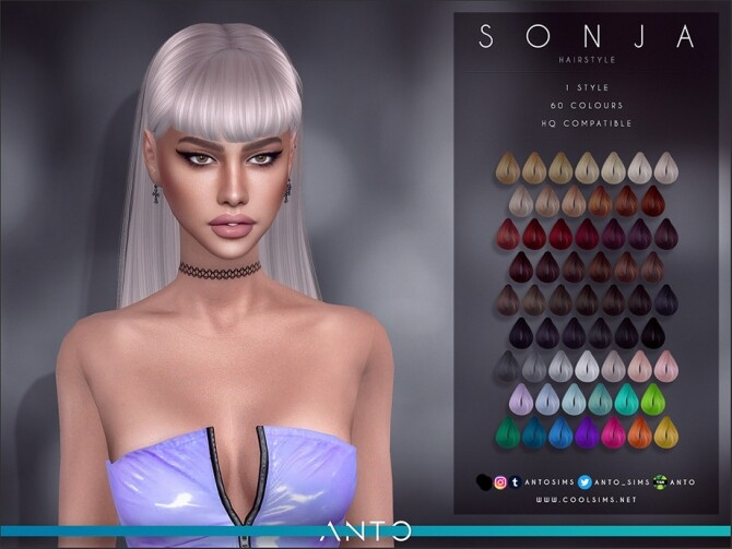 Sonja Hairstyle by Anto at TSR image 6916 670x503 Sims 4 Updates