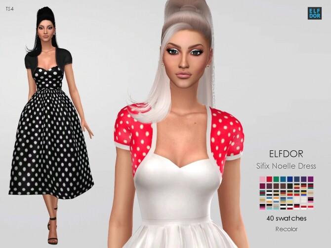 Sifix Noelle Dress RC at Elfdor Sims image 697 670x503 Sims 4 Updates