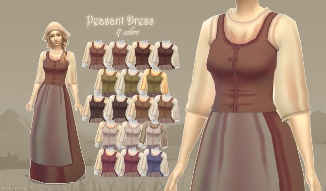Sims 4 Peasant Set by kennetha v at Mod The Sims