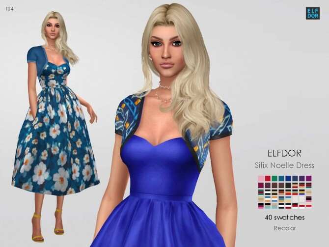 Sifix Noelle Dress RC at Elfdor Sims image 707 670x503 Sims 4 Updates