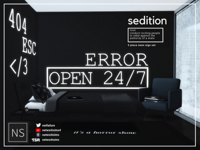 Sedition Neon Signs by Networksims