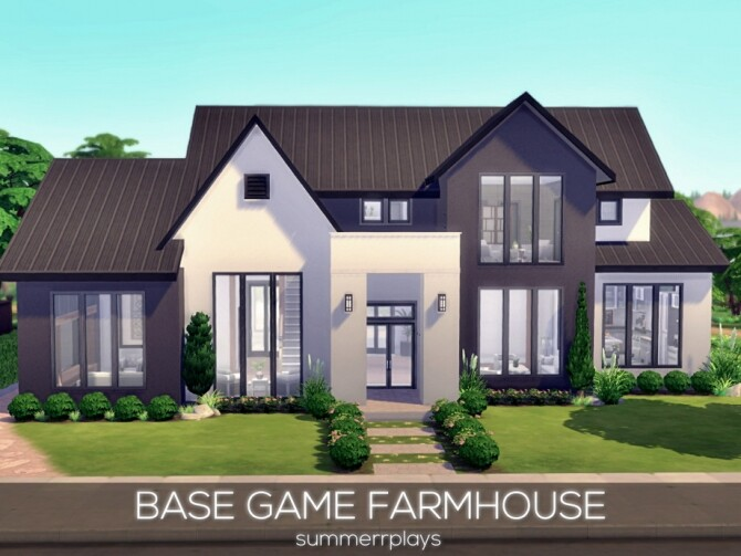Sims 4 Base Game Farmhouse by Summerr Plays at TSR