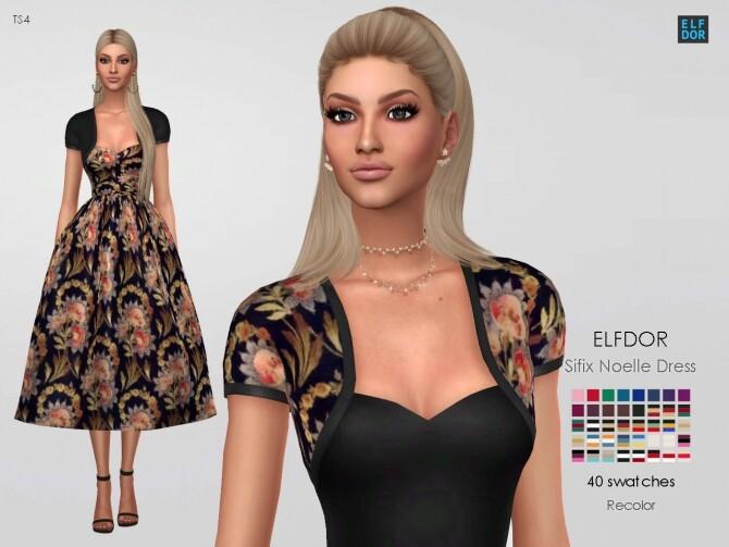 Sifix Noelle Dress RC at Elfdor Sims image 7110 670x503 Sims 4 Updates