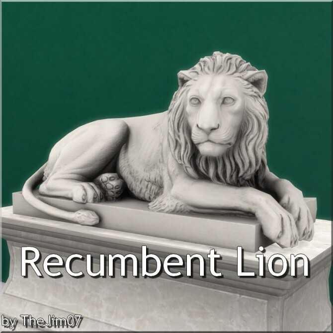 Sims 4 Recumbent Lion by TheJim07 at Mod The Sims