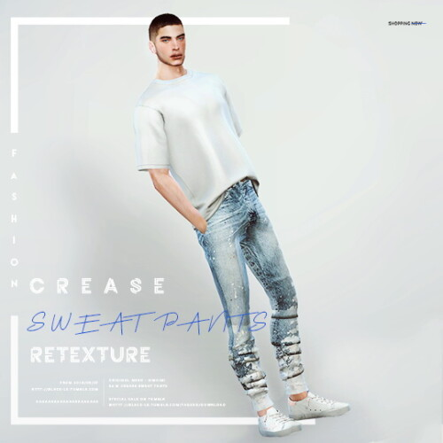 SIMSIMI M CREASE SWEAT PANTS Retexture