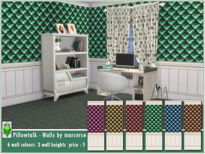 Sims 4 Pillowtalk Walls by marcorse at TSR