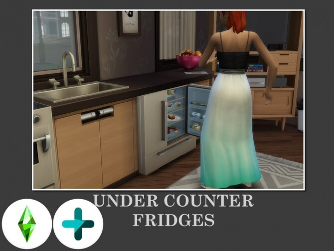 Sims 4 Under Counter Fridges by Teknikah at Mod The Sims