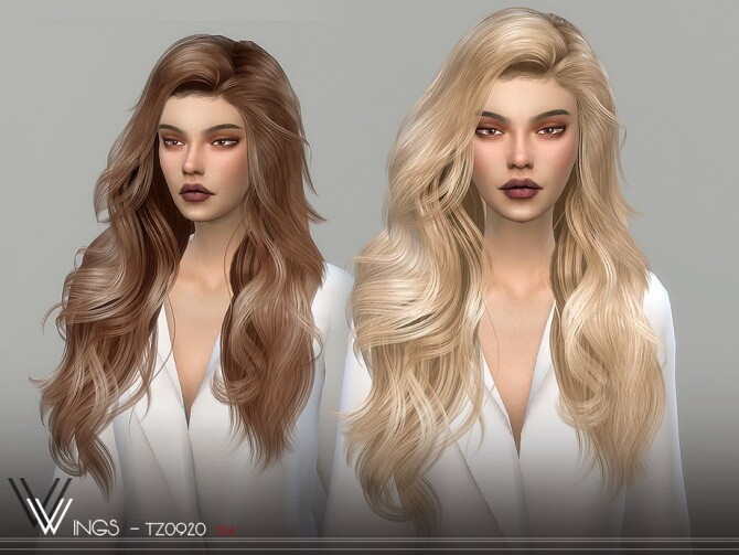 Sims 4 WINGS TZ0920 haircut by wingssims at TSR