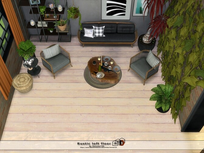 Rustic loft floor by Danuta720 at TSR image 7418 670x503 Sims 4 Updates