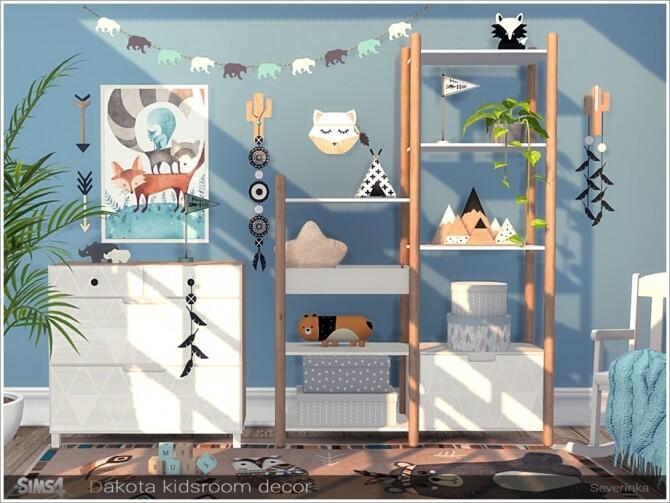 Sims 4 Dakota kidsroom decor by Severinka at TSR