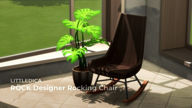 Sims 4 RÖCK Designer Rocking Chair by littledica at Mod The Sims