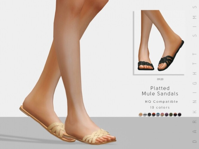 Platted Mule Sandals by DarkNighTt