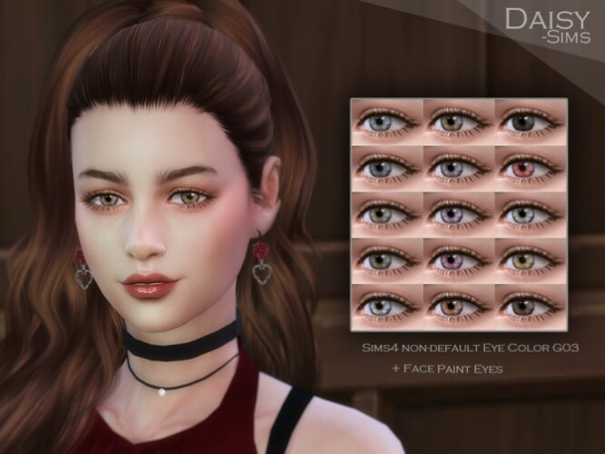 Realistic Eye Color Contact Lens G03 by Daisy-Sims
