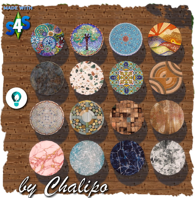 Sims 4 Coffee table eco round by Chalipo at All 4 Sims