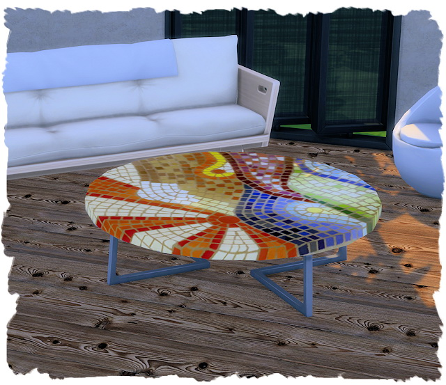 Coffee table eco round by Chalipo at All 4 Sims image 7716 Sims 4 Updates